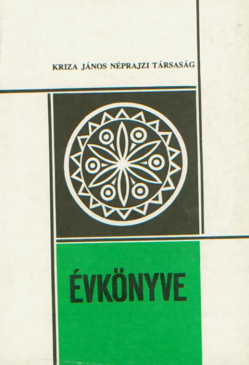 Kriza János Néprajzi Társaság Évkönyve 1
