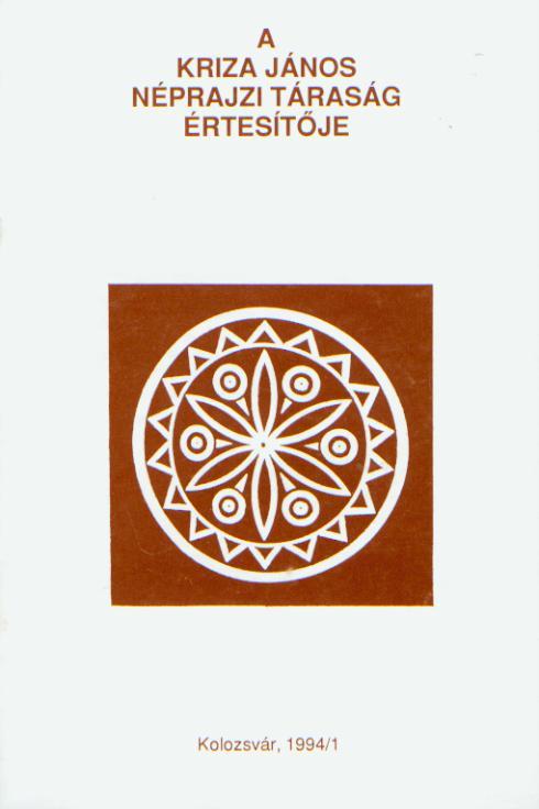 [Buletinul Asociaţiei Etnografice Kriza János. Vol. III. Nr. 2.] A Kriza János Néprajzi Társaság Értesítője. III. évf. 2. sz.
